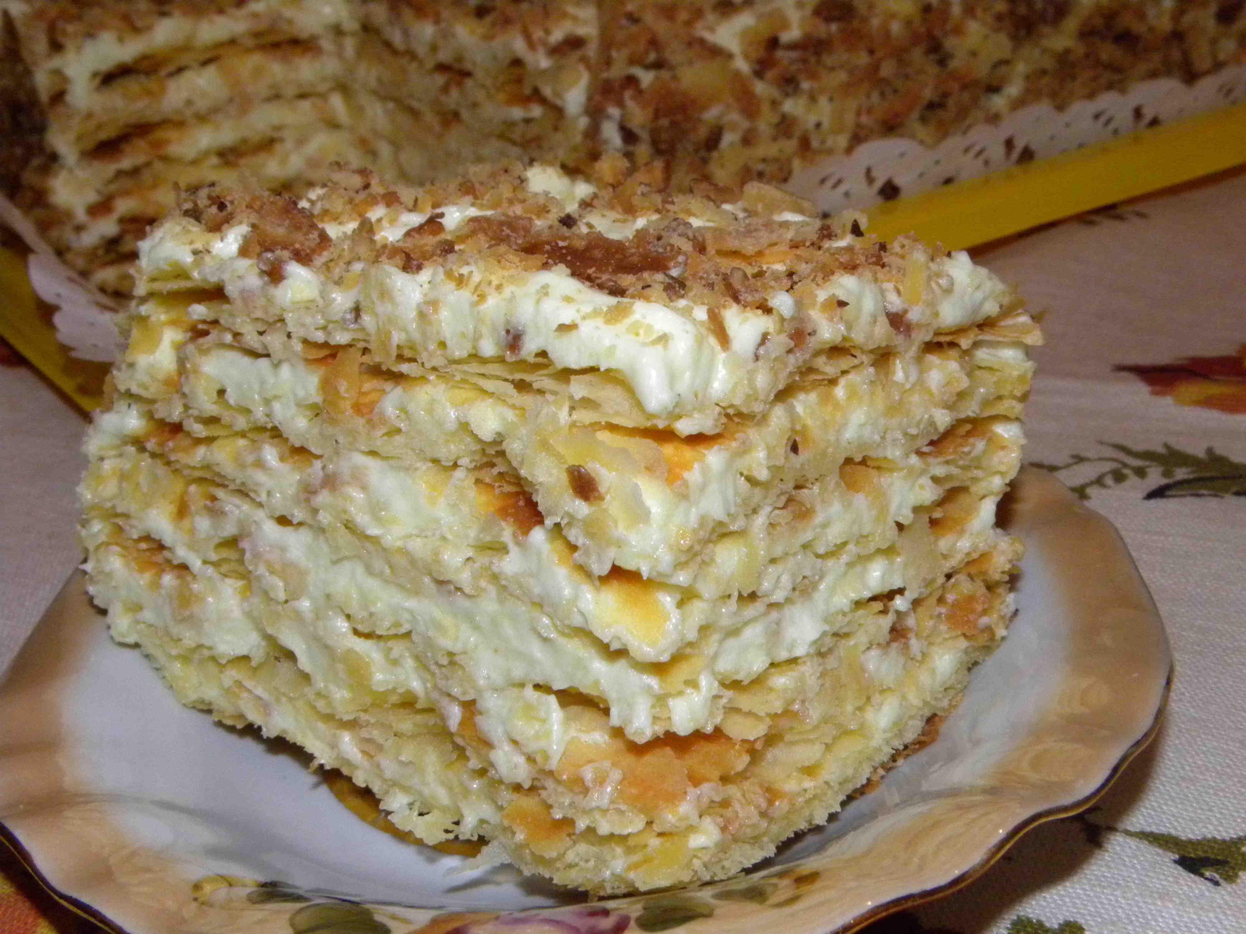Торт наполеон с водкой пошаговое фото