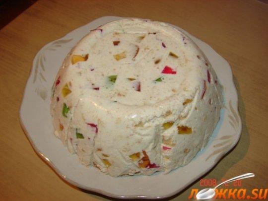 Желейный торт мозаика пошаговый рецепт фото